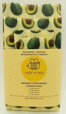 Beeswax Food Wraps 🐝Eco Friendly 🐝AVOCADO 🐝 Reusable Wrap - choose your size