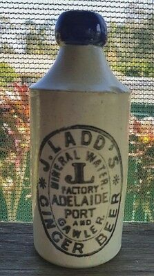 J Ladds Adelaide Port Gawler Blue Top Ginger Beer Mauri Bros Pottery Stamp