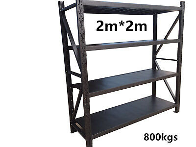 800kg!!! 2Mx2M Garage Warehouse Steel Storage Shelving Shelves Racking Racks