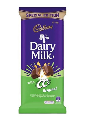 New Special Edition Cadbury Dairy Milk With CC's Original Corn Chips 190g