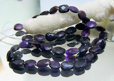 RARE NATURAL FACETED PURPLE AFRICAN SUGILITE NUGGET BEADS 10-11mm 90cts