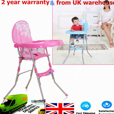 Foldable Baby High Chair Low High Chair Height Adjustable Feeding Recliner Seat
