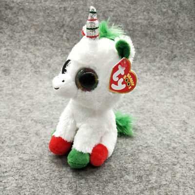 "CandyCane Ty Beanie Boos 6"" Stuffed Plush Kid Toy Animal Soft Plush Doll Gift Z"