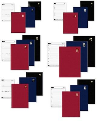 2019 A4/A5/A6 Diary Page a Day or Week to View Office Desk Diary Hard Backed New