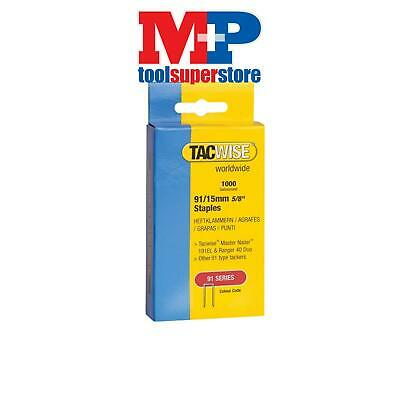 Tacwise 0768 91 Narrow Crown Staples 40mm - Electric Tackers Pack 1000