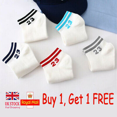 Womens Cute Short Cotton Socks Black Red Casual Ankle High Everyday Hosiery #23
