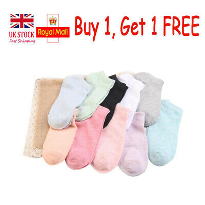 Womens Short Cotton Socks Casual Ankle High No Show Invisible Everyday Hosiery