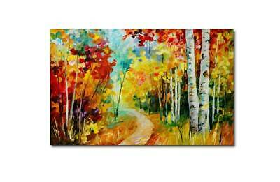 """Modernism Abstract Hand-Painted OIL PAINTING CANVAS """"Forest path""""(No Frame)"""