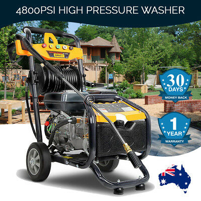 Pressure Washer Cleaner 4800PSI Electric Jet Spray Gun 3 Lances Home Yard 10Lmin