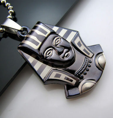 Men's Necklace Egyptian Pharaoh Steel Chain Gift New Unisex's Pendant Titanium
