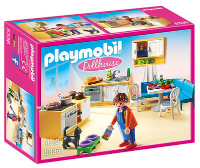 Playmobil Dollhouse Country Kitchen Set 5336 (for Kids 4 to 10)