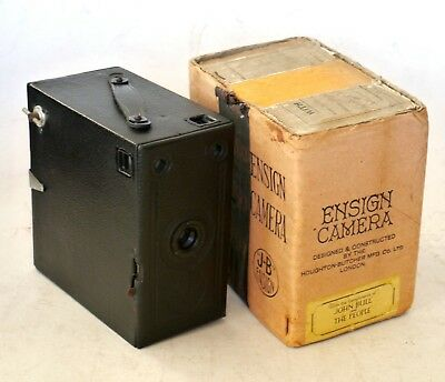 Vintage Antique Houghton ENSIGN JB Box Camera Nr MINT Cond GWO w Orig Packaging