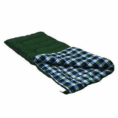 Flannel Sleeping Bag 4 Lb Rectangular For Adults Fall Camping Gear Warm Weather