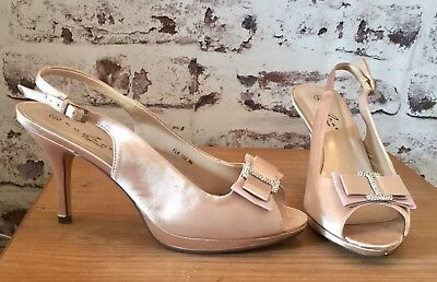 Champagne Silk Wedding Shoes Size 8