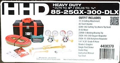 (MA5) Harris HHD Heavy Duty Ironworker 300 Oxy Acetylene Cutting Torch Kit 44003