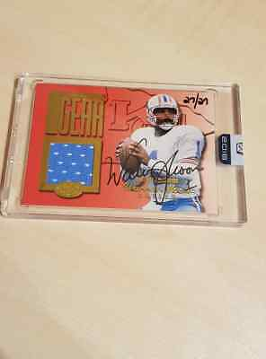Warren Moon 2016 Panini Honors Game Used Jersey Auto 27/27 Signed Card