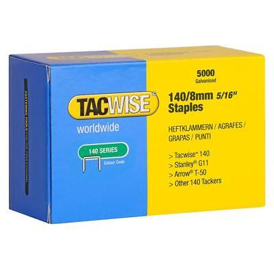 Tacwise 140 Series 8mm Staples for Staple Gun (Pack of 5000) [Energy Class A]