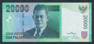 "Indonesia: 2004/2006 20,000 Rupiah ""TEA PICKERS"". Pick 144c UNC Lt handling"