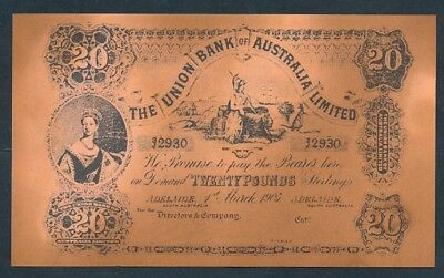 "Union Bank of Australia 1905 ""BRITANNIA"" £20 Funny Money - See description"