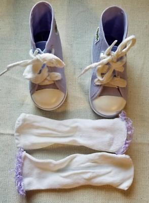 Playmates Cricket Doll Lavender Shoes Sneakers and Socks 1986