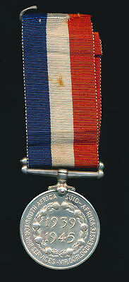 Original  South Africa 1939-45 WWII Medal in silver. Very Scarce.