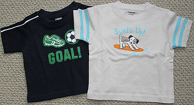 Gymboree Shirt Tee Top S/S 6 9 12 M Lot 2 Surf's Up Soccer GOAL FREE Ship NWT