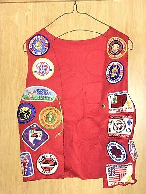 Red felt Boy Scout VEST