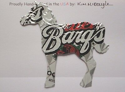 Horse Christmas Ornament Handmade Recycled Aluminum Metal Diet Root Beer Can