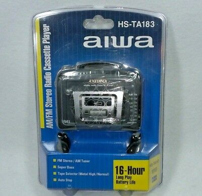 NEW Aiwa HS-TA183 Portable Cassette Player AM/FM Stereo w/ Headphones SEALED