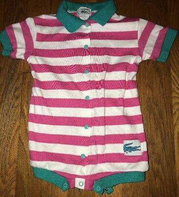 Infant Girls Vintage Izod Lacoste One Piece Outfit Size 18 Months ~ So Cute!