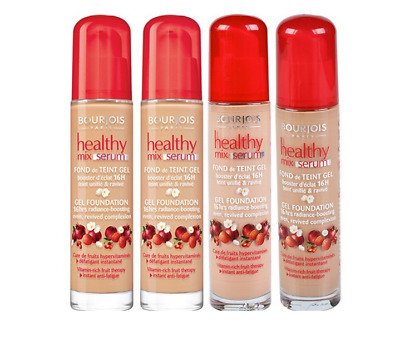 Bourjois Healthy Mix Serum 16Hrs Radiance Gel Foundation * Tube Bottle Red Lid
