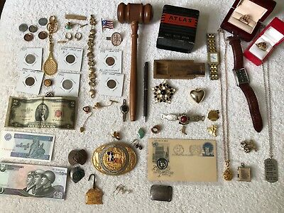 Junk Drawer Lot - 10k Class Ring, Old Money, Old Jewelry, Sterling, 10k Earrings