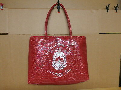Delta Sigma Theta  Red Large  Book Bag / Tote Bag - Very Good Condition