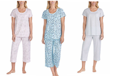 NEW Carole Hochman Ladies' 2-Piece Cotton Capri Pajama Set.