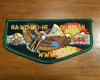 BSA Order of the Arrow Patches HA-WO-WO-HE QUE NAH  WWW 544 Brand New