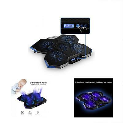 Laptop Cooling Pad Laptop Cooler with 5 Quiet Fans and LCD Touch Screen Dual USB