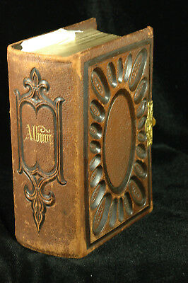 Exquisite Leather Bound Tintype Album ***full***