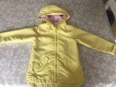 Girls Yellow Rain Coat From Mothercare 18-24 Months
