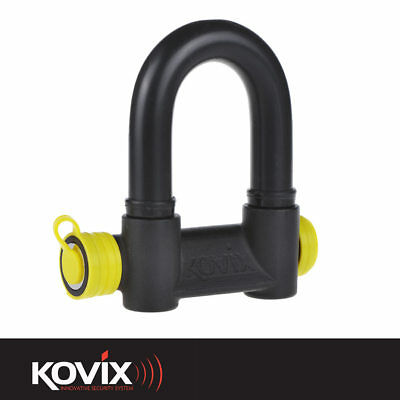 Kovix 47Mm X 69Mm Black Security Padlock For Motorcycle Bike Motorbike Scooter