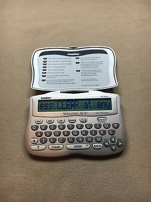 Franklin Electronic Spelling Ace with Thesaurus - Model SA-206S