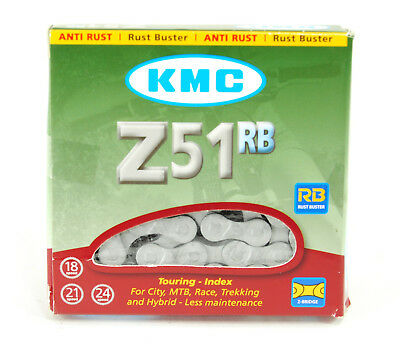 """116 Links Rustbuster 3//32/"""" Gray KMC Z51RB Chain"""