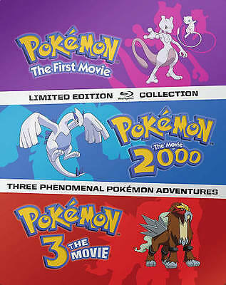 Pokemon: The Movie 1 2 3 2000 Steelbook Collection Limited Edition