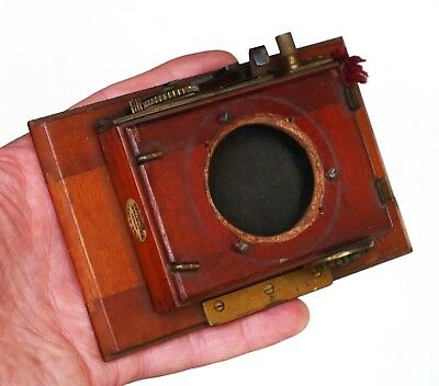 Thornton Pickard Cloth Shutter & Lens Mount for Antique Mahogany PLATE CAMERAS