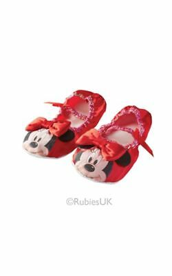 Kids Disney Red Minnie Mouse Ballet Shoes Girls Fancy Dress Costume Accessory