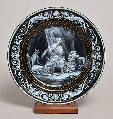 A Very Beautiful Antique French Limoges Enamel Plate In Fine Condition, 18Thc
