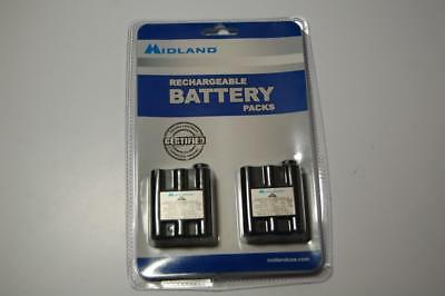 New 2 MIDLAND Rechargeable Battery Packs BATT-5R Works w/ Most GTX & Base Camp