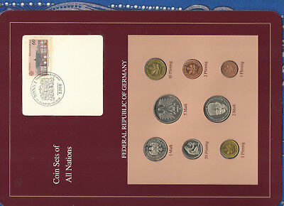 Coin sets of all nations Germany 1985-1989 UNC 5 Mark 1987 1, 2 Mark 1989 3.5.90