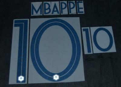 France Mbappe 10 world cup 2018 Football Shirt Name/Number Set Away Player Size