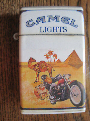 1980's Camel Butane Lighter With Motorcycle.