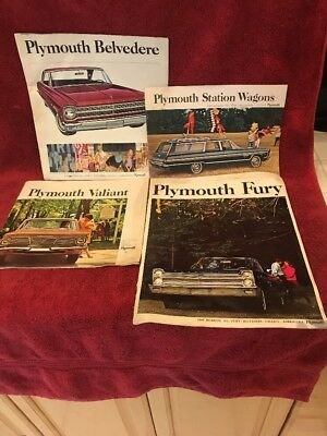 Vintage Lot Of 4 Plymouth Sales Brochures 1965